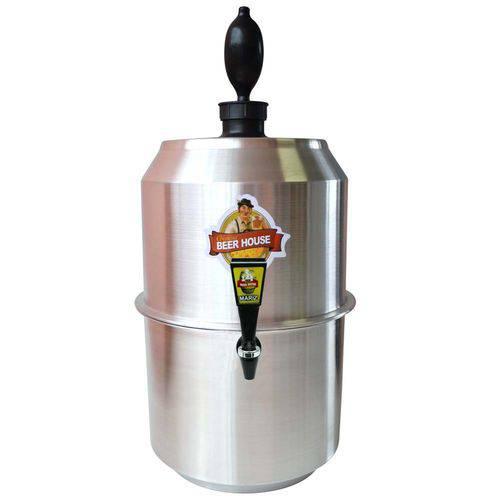 Chopeira King Beer 10 Litros Portátil Alumínio 28 Latas Chopp Cerveja