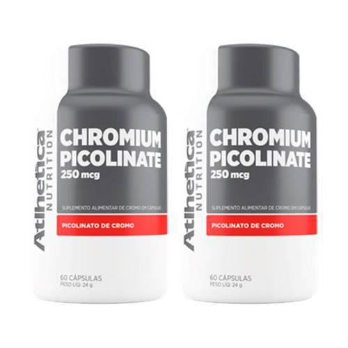 Chromium Picolinate Cromo 250mcg - 2 Un de 60 Cápsulas - Atlhetica