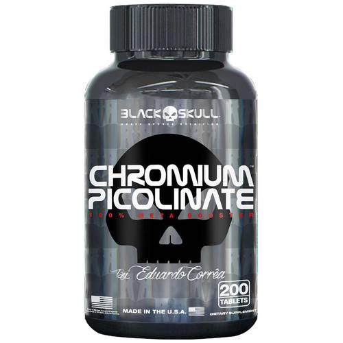 Chromium Picolinato - 200 Tabletes - Black Skull