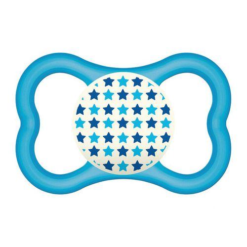 Chupeta Air Night Silk Touch Boys Tam 2 (6m+) Blue Stars - MAM