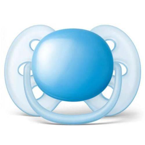 Chupeta Avent Ultra Soft Lisa 6-18m Azul