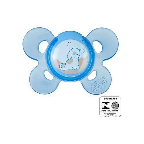 Chupeta Chicco Comfort Azul Sil Tam.1 (0-6m) - 1un Azul Único