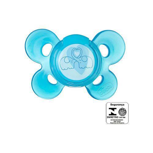 Chupeta Chicco Comfort Azul Sil Tam.2 (6-12m)-1 um Azul Único