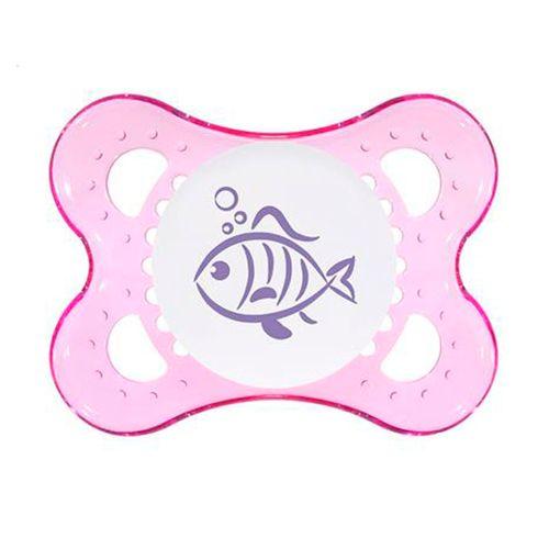 Chupeta Clear Girls Tam 1 (0-6m) Fish - MAM