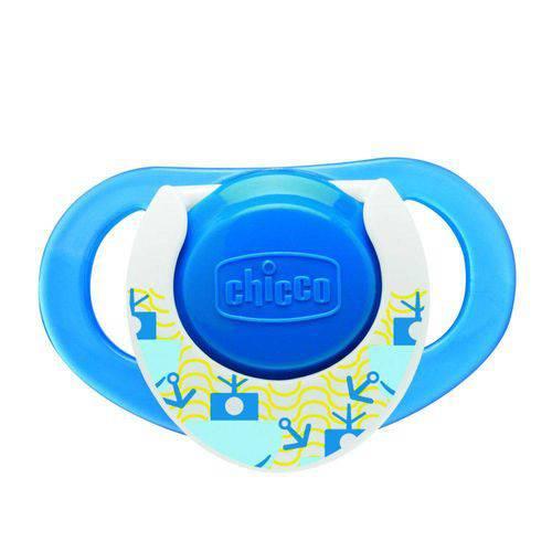 Chupeta Compact Azul Silicone Tam 2 (12m) - Chicco