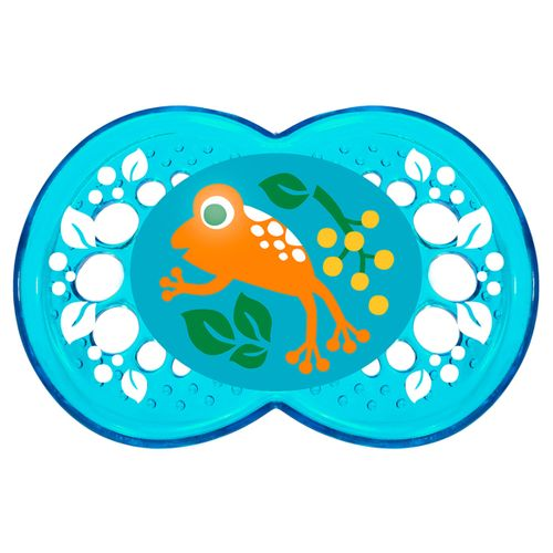 Chupeta Crystal Silk Touch Boys Tam 2 (6m+) Frog - MAM