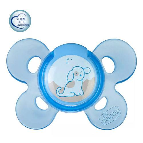 Chupeta de Silicone Physio Comfort Azul 0 a 6 Meses - Chicco