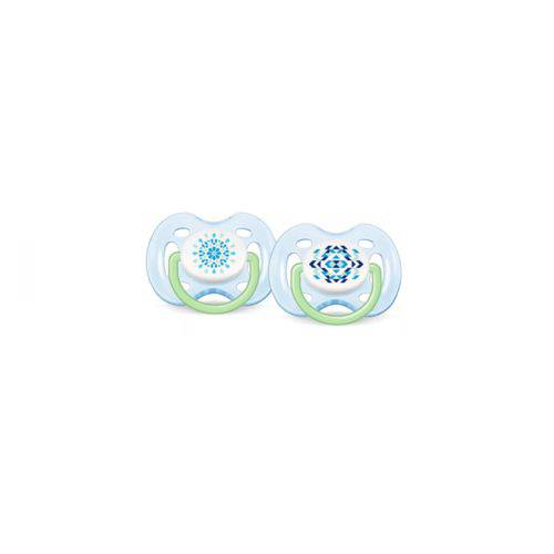 Chupeta FreeFlow Dupla 0-6m – Azul – Philips Avent