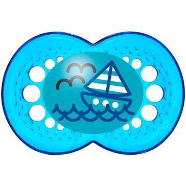Chupeta Mam Crystal Silk Touch 1 Unidade Azul