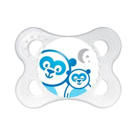 Chupeta Mam Night Silicone Silk Touch Ortodôntica de 0 a 6 Meses Desenhos Sortidos Boys 1 Unidade