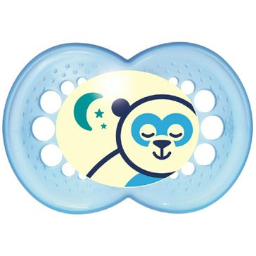 Chupeta MAM Night Silk 6+ 1 Unidade Azul