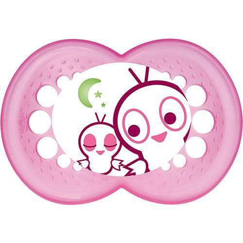 Chupeta MAM Night Silk Touch - Rosa - 6+M - Mam
