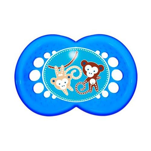 Chupeta Mam Original Silicone Silk Touch Ortodôntica +6 Meses Azul com 1 Unidade