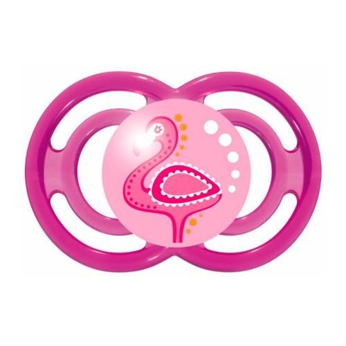 Chupeta Mam Perfect Silicone Silk Touch 6+ Meses Girls Desenhos Sortidos com 1 Unidade