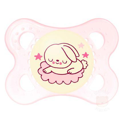 Chupeta Night Girls Tam 1 (0-6m) Bunny - MAM