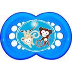 Chupeta Original Silk Touch Mam Azul com Estampa de Macacos Cipó