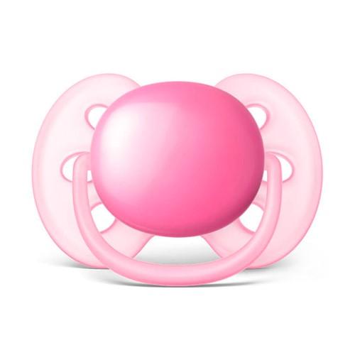 Chupeta Philips Avent Ultra Soft Tamanho 2 de 6 a 18 Meses Rosa com 1 Unidade