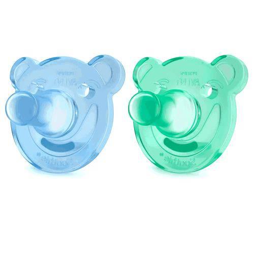 Chupeta Super Soothie Azul e Verde Scf194/01 Avent