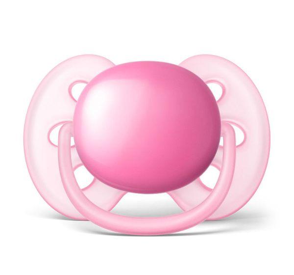 Chupeta Ultra Soft Rosa 0-6 Avent