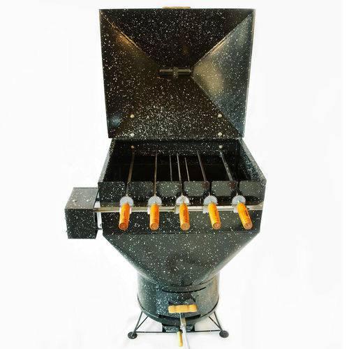 Churrasqueira a Bafo Gás ou Carvão 110V Apolo 5 Plus Preto