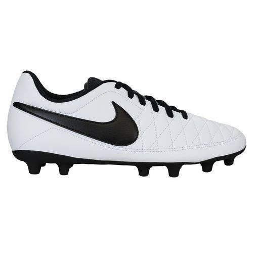 Chuteira Campo Nike Majestry FG Masculina - Branco e Preto
