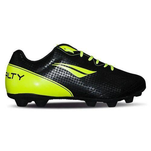 Chuteira Campo Penalty K Soccer Matis VIII Preto/Amarelo Neon