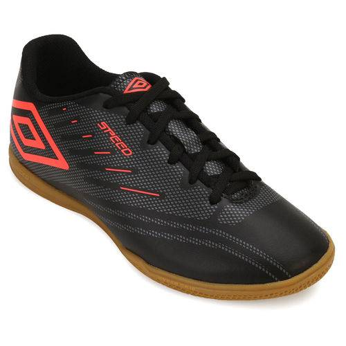 Chuteira Futsal Umbro Speed IV UB18 Juvenil - Preto/Cinza