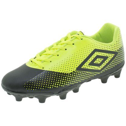 Chuteira Masculino Soccer Shoes Preto/limão Umbro - Of70093 12 Pares