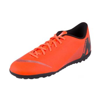 Chuteira Nike Society Mercurial Vaporx 12 Club Tf Laranja/Branco 43