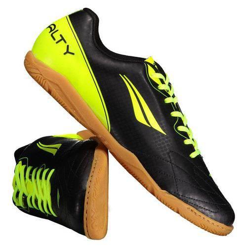 Chuteira Penalty Matís VIII Futsal Preta e Amarela