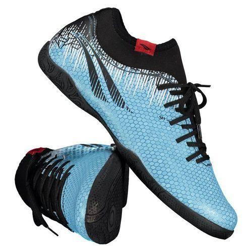 Chuteira Penalty S11 Locker IX Futsal Azul e Preto - Penalty - Penalty