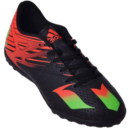 Chuteira Society Adidas Messi AF4683 Preto/Coral