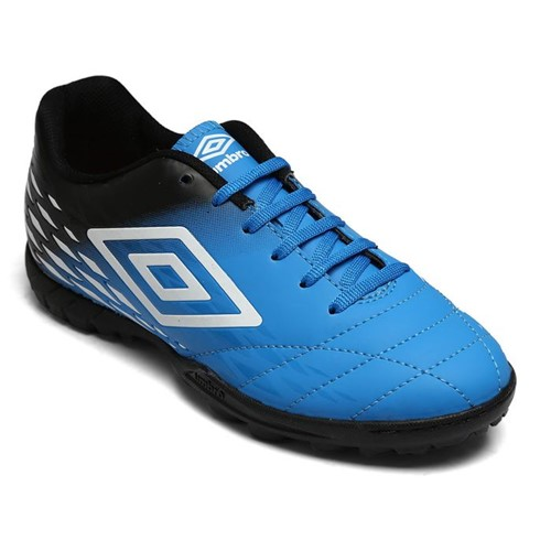 Chuteira Society Umbro Fifty II Azul/Preto/Branco Of71089