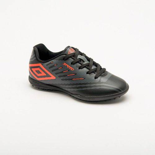Chuteira Society Umbro Speed Iv Adulto - Preto/laranja