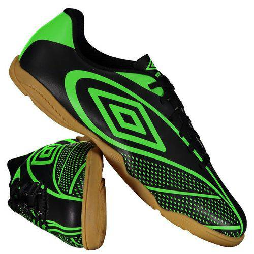 Chuteira Umbro Fury Futsal Preta e Verde - Umbro