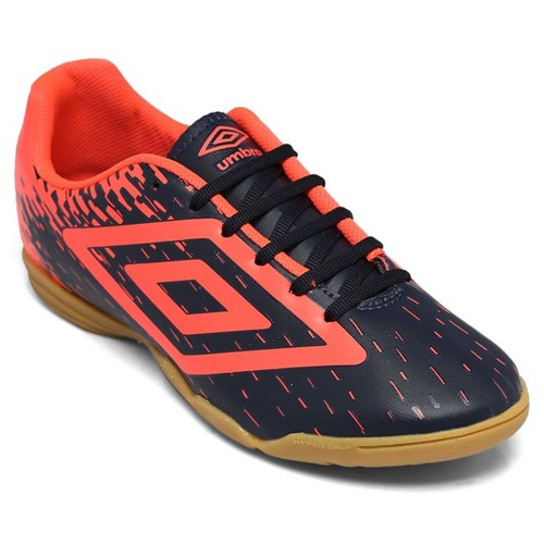 Chuteira Umbro Indoor Acid Marinho/Coral OF72097