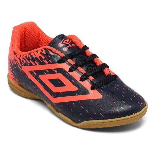 Chuteira Umbro Indoor Acid Marinho/Coral OF82048
