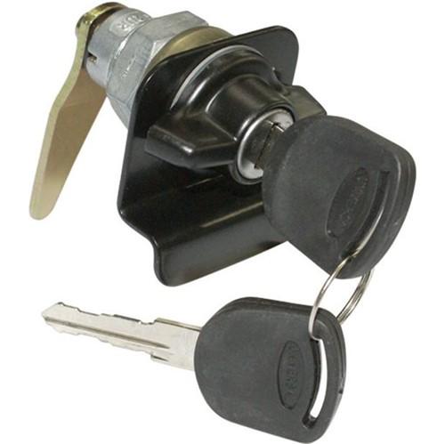 Cilindro com Chave e Puxador Externo Porta Lateral Giro Lado Esquerdo Preto - Un60531 Ônibus /adaptações