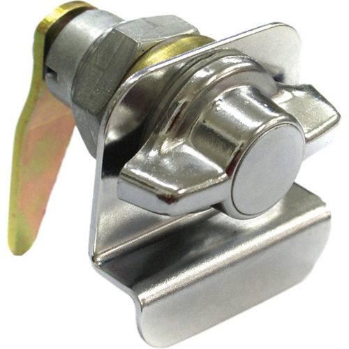 Cilindro Sem Chave com Puxador Externo Porta Lateral Giro Lado Direito Cromado Au Onibus /adaptacoes