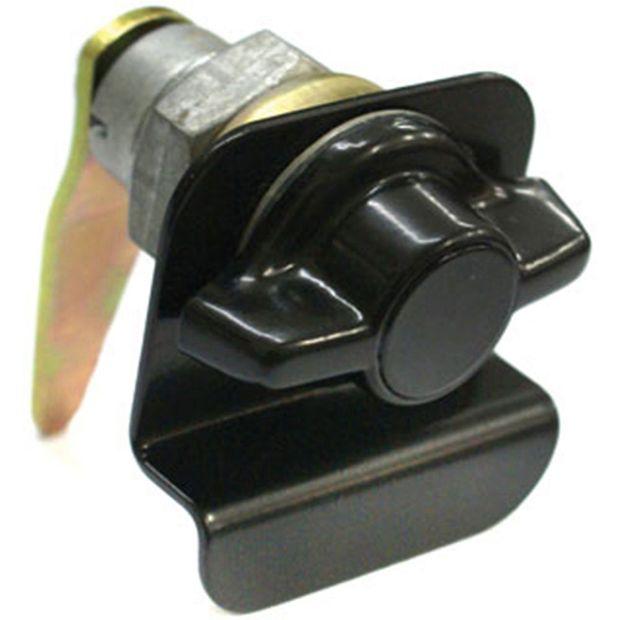 Cilindro Sem Chave com Puxador Externo Porta Lateral Giro Lado Direito Preta - Un60585 Ônibus /adaptações