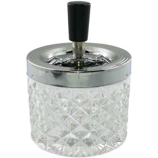 Cinzeiro de Vidro Transparente Ornamental 40366 Urban