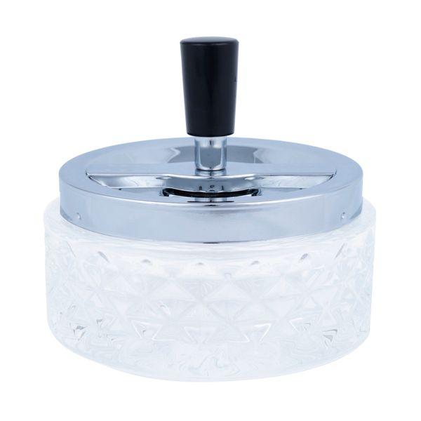 Cinzeiro Losango Transparente Vidro 12X10CM - 21377