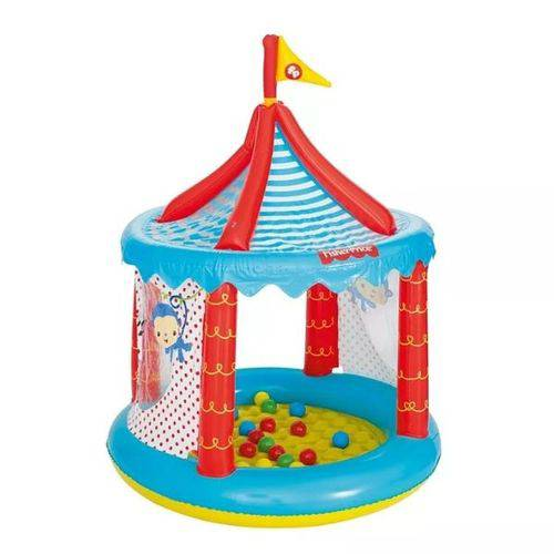 Circo Inflável Piscina Bolinhas Fisher Price Infantil
