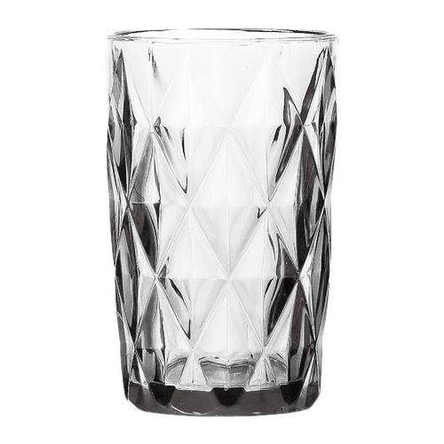 Cj. 6 Copos Altos Diamond de Vidro Sodo-calcico Transparente 330ml 6,2x8x12,7cm
