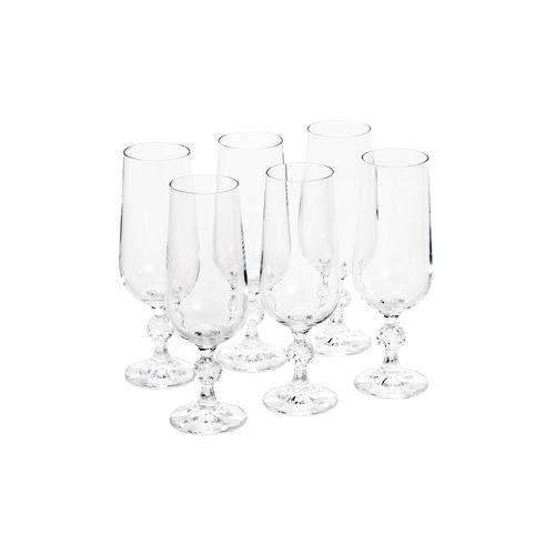 Cj 6 TAÇAS P/Champagne de Cristal ECOLÓGICO Klaudie 180ML