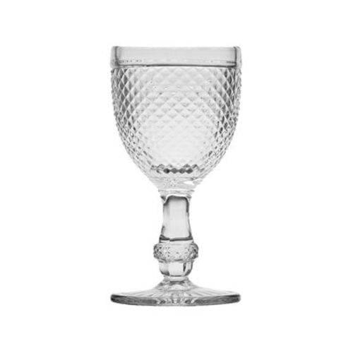Cj 6pc Taça P/agua de Vidro Sodo-cálcico Bico de Jaca Transparente 255ml
