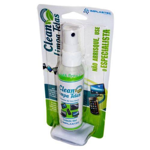 Clean Limpa Telas - 60ml com Flanela Anti-Riscos - Implastec