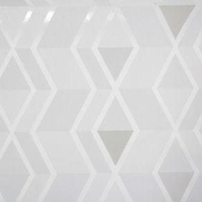 Clean Papel Parede 53 Cm X 10 M Branco/cinza