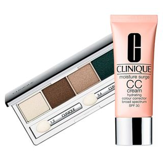 Clinique Paleta de Sombras + CC Cream Kit - All About Shadow Quad + Moisture Surge CC Cream SPF30 Kit
