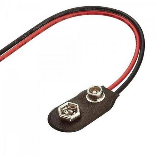Clip para Bateria 9v com Fios Cn0144sc20 Preto/vermelho Timrich